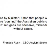 Response to Minister Dutton – ASC Media Release