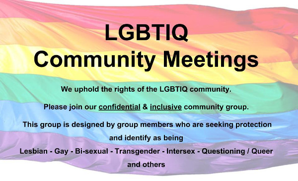 LGBTIQ Community Meetings Poster