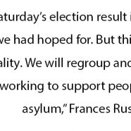 Statement from ASC's CEO, Frances Rush, on the result of  the Federal election